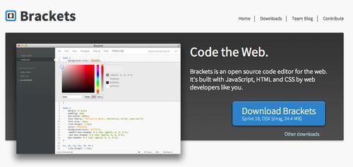 Adobe Brackets Webpage