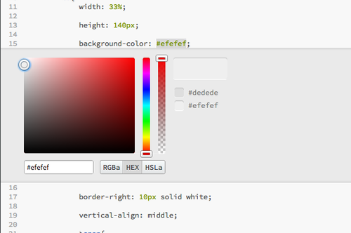 Adobe Brackets Color Editor