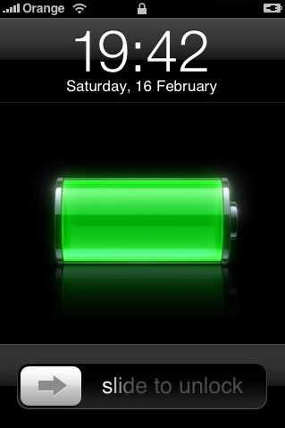 iOS 6 and previous, Lock Screen
