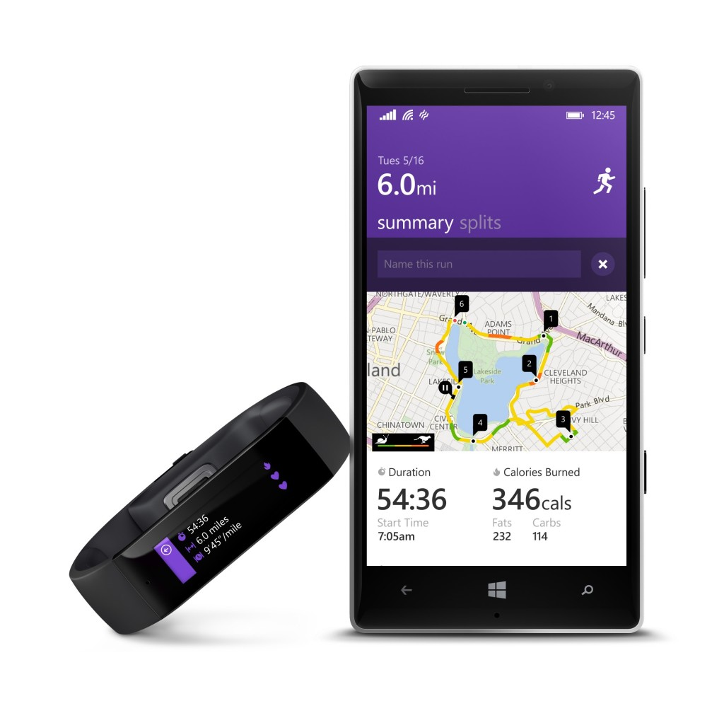 Running with Microsoft Band