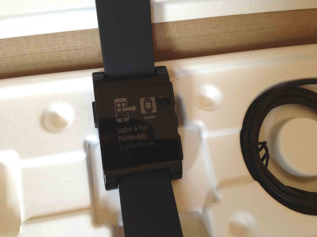 Pebble's Setup Screen