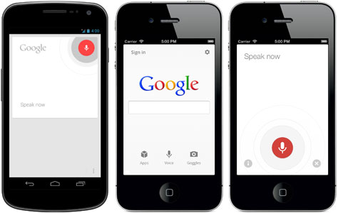 Google Voice Search - Photo by Google