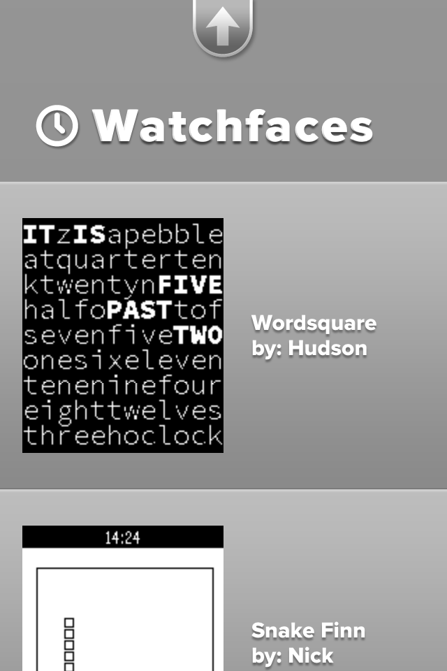 Pebble's Watchfaces