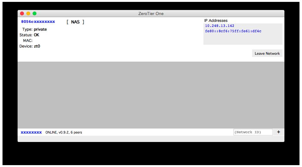 ZeroTier Mac Client